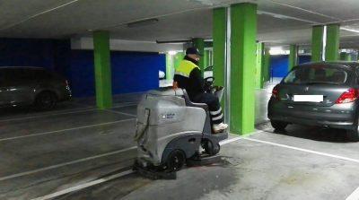 maquinaria limpieza garaje Madrid